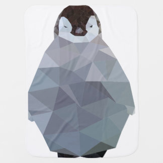 Geometric Baby Penguin Print Baby Blanket