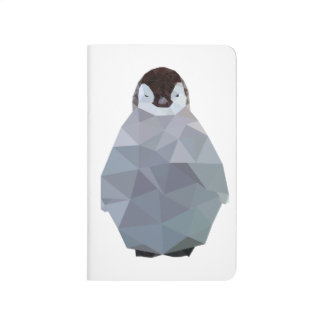 Geometric Baby Penguin Print Journal