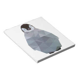 Geometric Baby Penguin Print Notepad