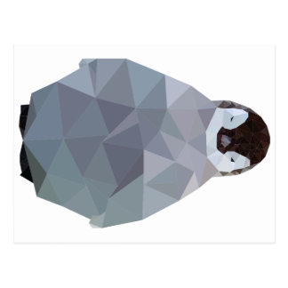 Geometric Baby Penguin Print Postcard