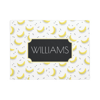 Geometric Bananas   Add Your Name Doormat