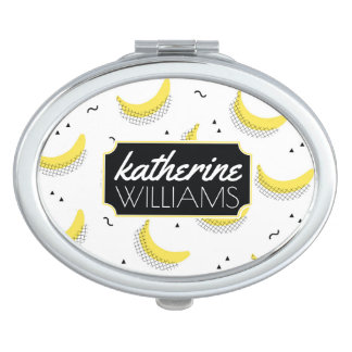 Geometric Bananas | Add Your Name Vanity Mirrors