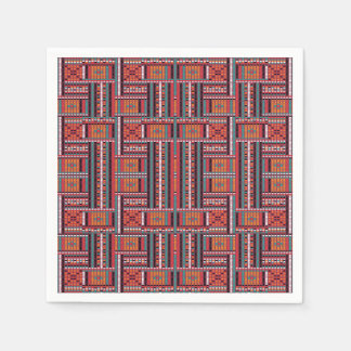 Geometric Bead Effect Pattern Ethnic Tribal Look Paper Napkins