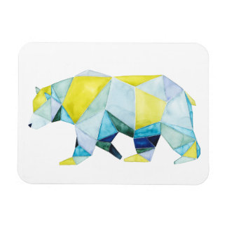 Geometric Bear Animal Rectangular Photo Magnet