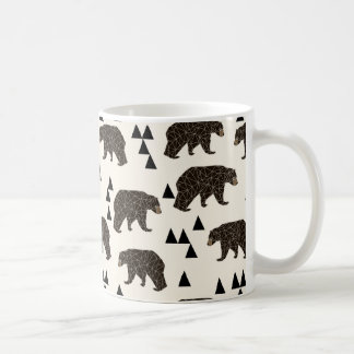 Geometric Bear Cream Geo Woodland / Andrea Lauren Coffee Mug
