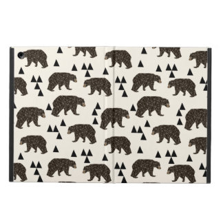 Geometric Bear Cream Geo Woodland / Andrea Lauren iPad Air Covers