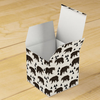 Geometric Bear Cream Geo Woodland / Andrea Lauren Wedding Favor Box