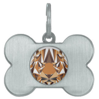 Geometric Bear Pet Tag