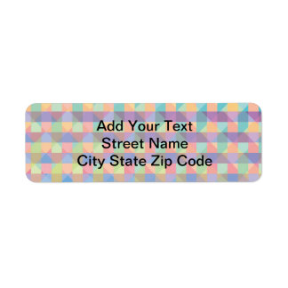 Geometric Beauty Return Address Label