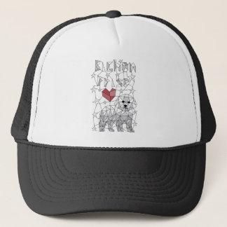 Geometric Bichon Frise Trucker Hat