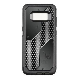 Geometric Black And Gray Metallic Texture OtterBox Commuter Samsung Galaxy S8 Case