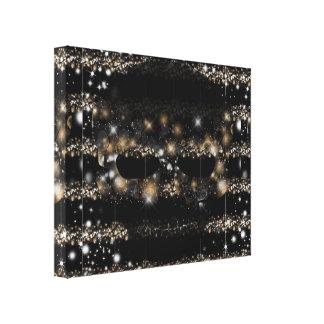 Geometric Black & Glitter Skull Canvas Print