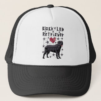 Geometric Black Lab Retriever Trucker Hat