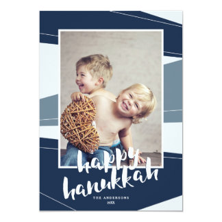 Geometric Block | Hanukkah & Christmas Interfaith Card