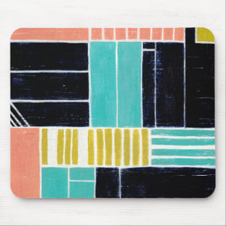 Geometric Blocks Mouse Pad