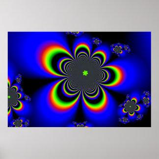 Geometric Blooms Poster