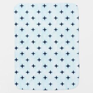 Geometric Blue Baby Blanket