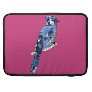 Geometric Blue Jay MacBook Pro Sleeve
