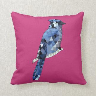 Geometric Blue Jay Throw Pillow
