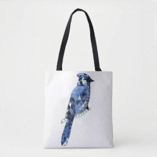 Geometric Blue Jay Tote Bag