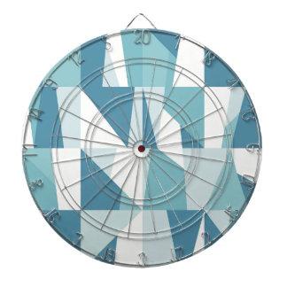 Geometric Blue Pattern Dartboard