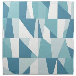 Geometric Blue Pattern Napkin
