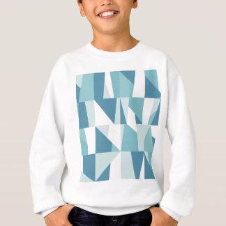 Geometric Blue Pattern Sweatshirt