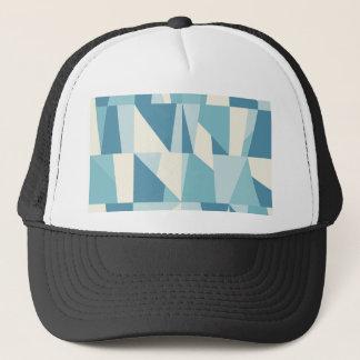 Geometric Blue Pattern Trucker Hat