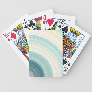 Geometric Blue Rings Bicycle Playing Cards