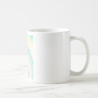 Geometric Blue Rings Coffee Mug