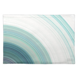Geometric Blue Rings Placemat
