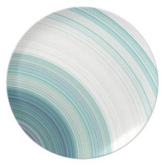 Geometric Blue Rings Plate