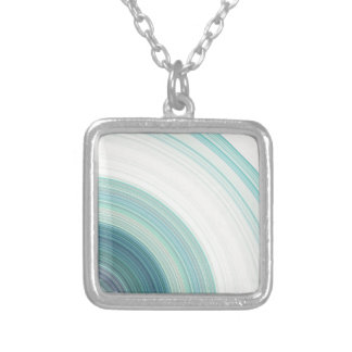Geometric Blue Rings Silver Plated Necklace
