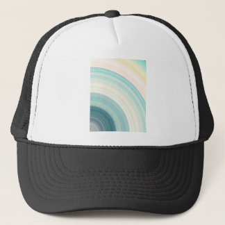Geometric Blue Rings Trucker Hat