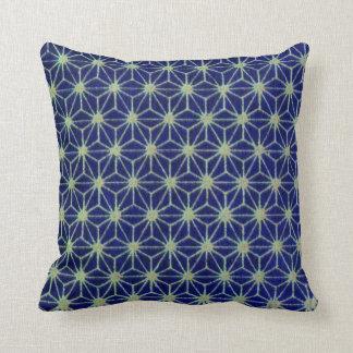 Geometric Blue Stars American MoJo Pillow