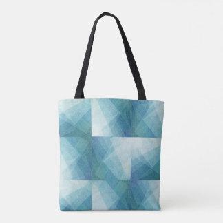 Geometric Blue Tote