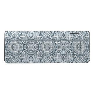 Geometric Blue white Floral Mandala pattern Wireless Keyboard