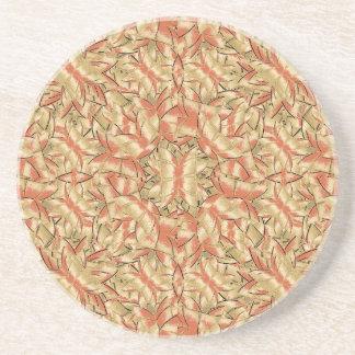 Geometric Bold Cubism Pattern Coaster