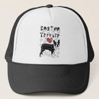 Geometric Boston Terrier Trucker Hat