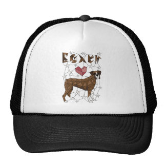 Geometric Boxer Trucker Hat