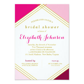 Geometric Bridal Shower Invitation
