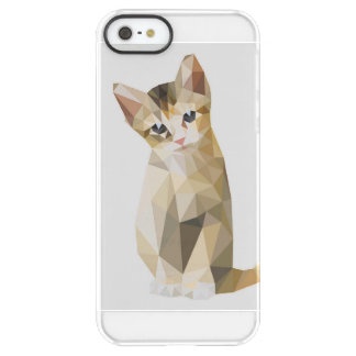 Geometric brown cat sitting permafrost® iPhone SE/5/5s case