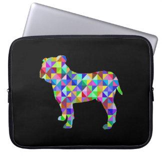 Geometric Bulldog Laptop Computer Sleeves