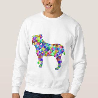 Geometric Bulldog Sweatshirt