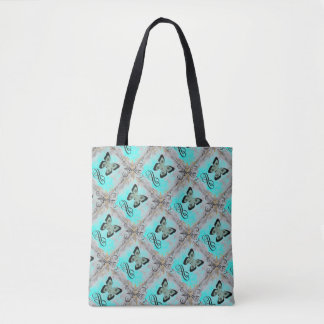 Geometric Butterfly Graphic Bag For Shopping