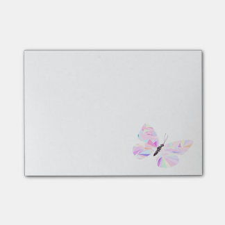 Geometric butterfly post-it® notes