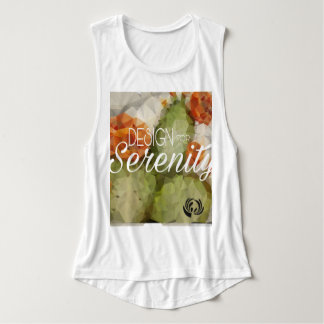 Geometric Cactus Blossom Women Muscle Tank