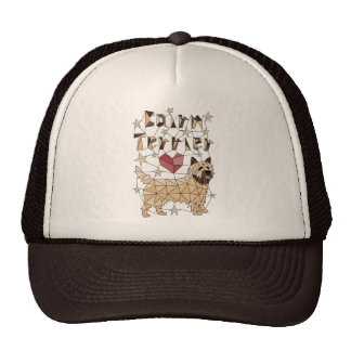Geometric Cairn Terrier Trucker Hat