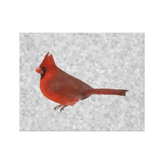 Geometric Cardinal Canvas Print