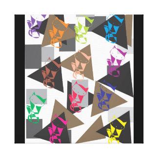 Geometric cat canvas print